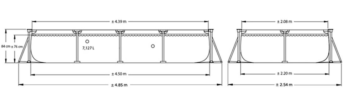 Intex металлический каркас бассейна размерами 450 х 220
